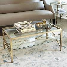 gold glass coffee table clear and gold coffee table