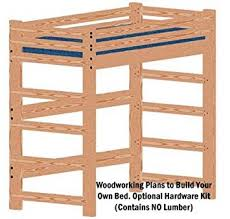 Twin Loft Bed Plans by Amazon Com Loft Or Bunk Bed Diy Woodworking Plan Tall Extra Long