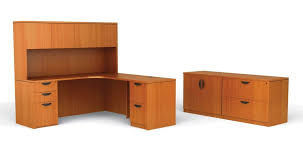 Office Desk With Hutch Storage Furniture Fascinating L Shaped Office Desk With Hutch Featuring