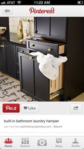 Bathroom Cabinet With Built In Laundry Hamper 15 Smart Bath Storage Ideas Glass Doors Hamper And Drawers