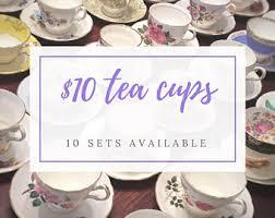 tea cups sets etsy