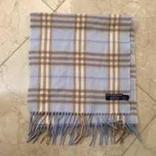 light blue burberry scarf burberry accessories light blue plaid scarf poshmark