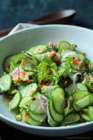 cuisiner concombre légère et rafraîchissante la salade de concombre asiatique