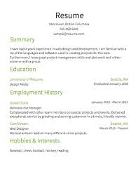 Resume Format For Job by Samples Of Simple Resumes 20 Resume Sample Simple De9e2a60f The
