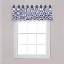 White Valance Buy Navy And White Valances From Bed Bath U0026 Beyond