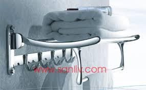 folding towel rack shelf for small bathroom design home