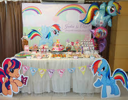 my little pony birthday parties and dessert table setup