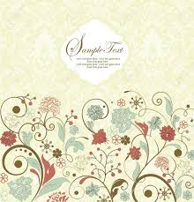Floral Invitation Card Designs Vintage Invitation Card With Floral Background And Place For