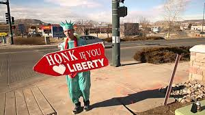 castle rock liberty tax awesome sign waver video michael youtube