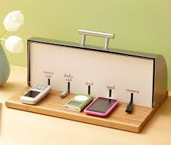 build a charging station diy bread box charging station apartment therapy