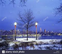 christmas lights manhattan new york city from weehawken park new