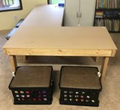 Play Table For Kids Homeschool Furniture Diy Table For Kids Learn With Emily