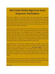 real estate mobile apps pdf pdf archive