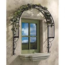 thornbury ornamental metal garden window trellis fz1579 design