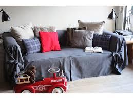 housse de canap gris housse de canapé bachette 3 places 100 coton à nouettes