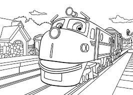cartoon chuggington train coloring pages for kids womanmate com