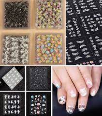 50 sheets 3d nail art stickers tips decal fashion flower tip