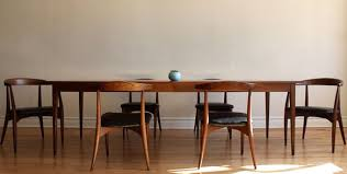 mid century walnut dining table lawrence peabody mid century modern dining set mid century modern