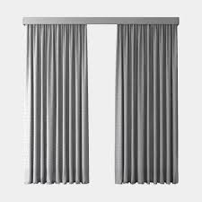 Gray Blackout Curtains 3d Model Gray Blackout Curtains Cgtrader