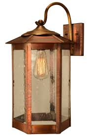 Mission Wall Sconce Baja Mission Style Outdoor Wall Light With Bracket Copper Lantern