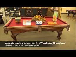 rec warehouse pool tables rec warehouse greensboro nc youtube