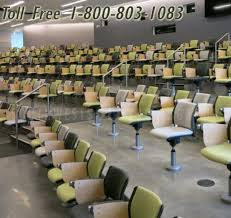 Lecture Hall Desk Auditorium Seating Fixed Swivel Chairs Conference Theater