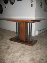 custom vintage restored console dining table by art deco icon
