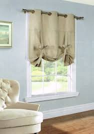 Grommet Top Valances Weathermate Insulated Grommet Tie Up Curtain Thermal Solid Color