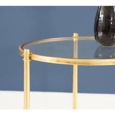 gold metal side table simple circular gold side table gold metal side table