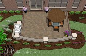Large Paver Patio Design With Grill Station Bar Plan No by Diy Paver Patio Design Downloadable Plan U2013 Mypatiodesign Com