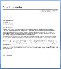 au pair cover letter sample creative resume design templates