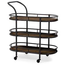 denver white modern kitchen cart baxton studio karlin rustic industrial style antique black