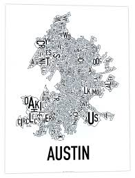 Atlanta Neighborhoods Map by All Our Posters Ork Posters Complete Collection Of Typographic Maps