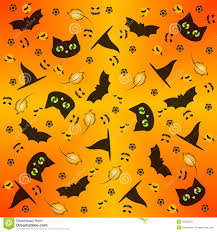 seamless halloween background seamless black and orange halloween background stock vector