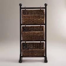 bathroom designs traditional rattan baskets glossy dark stand