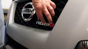 nissan frontier emblem nismo grille badge installation and review youtube
