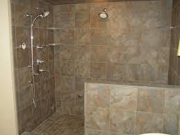 tiled walk in shower salle de bain ardoise naturelle et chic