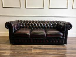 Chesterfield Sofa Used 3 Seater Leather Chesterfield Sofa In Wine Robinson Of