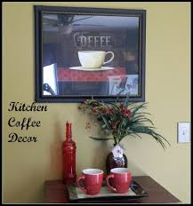 decorating good coffee wall kitchen decor with black frame