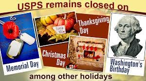 us postal service holidays 2018