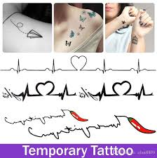 fake tattoo stickers harajuku love figure cayenne pepper