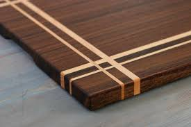 walnut u0026 maple wood cutting board or serving board in a striped