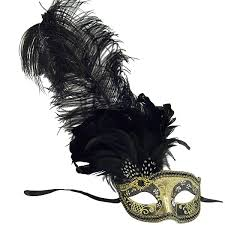 black and gold masquerade masks venetian mask in london for black and gold can can feathered