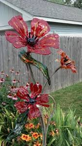 corrugated iron flowers in tirau best iron flower and