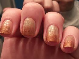 gold to copper gradient shimmer nails polish me please