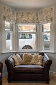 best bay window treatments ideas pinterest three roman blinds dress bay window the fabric laura ashley pussy