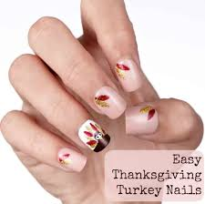 easy diy turkey and feathers nail tutorial style on