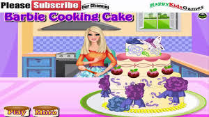 barbie games barbie cooking cake for friends play free barbie