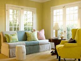 Yellow Accent Wall Yellow Living Room With Accent Wall House Decor Picture
