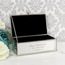 personalised jewelry box personalised mirrored jewellery box temptation gifts